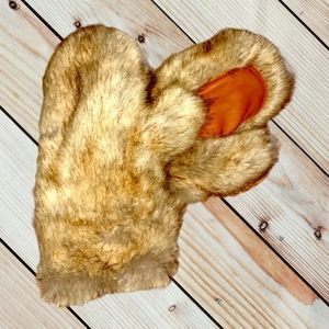 Faux Fur Mittens New without tags